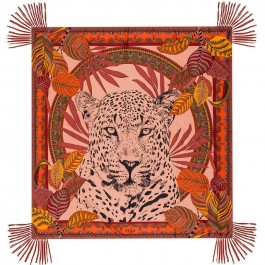 Jaguar blush pareo (sarong) or scarf