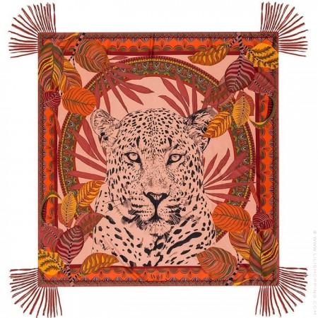 Jaguar blush pareo (sarong) or scarf