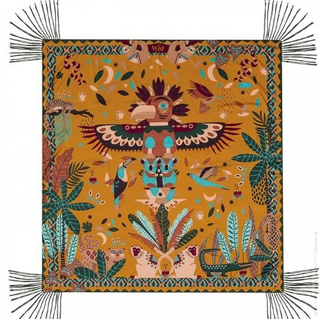 Paco ocre pareo (sarong) or scarf