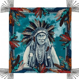 Yakari blue pareo (sarong) or scarf