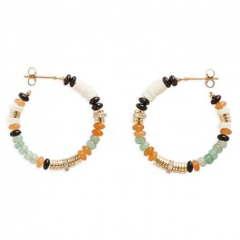 Majenga jade Hipanema hoops earrings