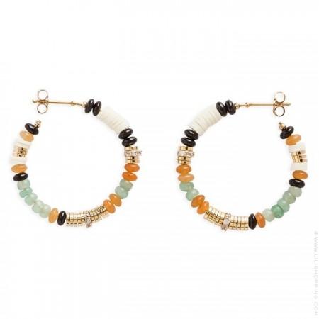 Majenga jade Hipanema hoops earrings