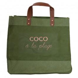 Kaki Mademoiselle bag Coco à la plage gold glitter