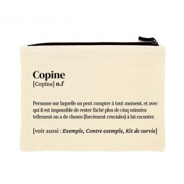 Copine printed cotton pouch