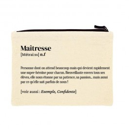 Maîtresse printed cotton pouch