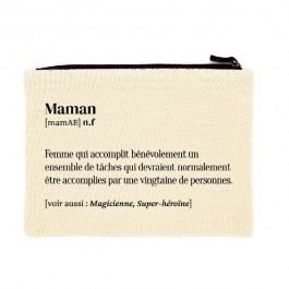 Maman printed cotton pouch