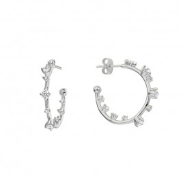 Little Hoops silver platted earrings