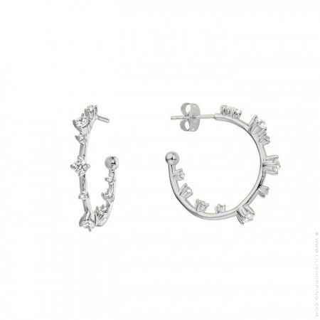 Little Hoops silver platted earrings