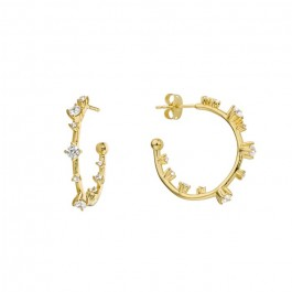 Hoops gold platted earrings