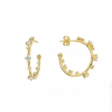 Little Hoops gold platted earrings