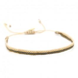 Bracelet Argentinas beige gris or