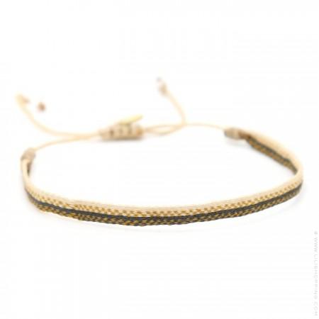 Argentinas grey beige gold bracelet