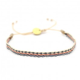 Argentinas beige black orange bracelet
