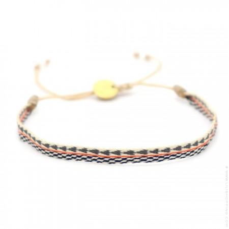 Bracelet Argentinas noir beige orange