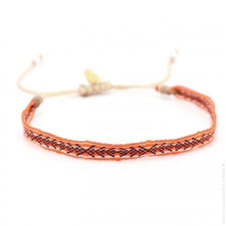 Bracelet Argentinas orange corail noir