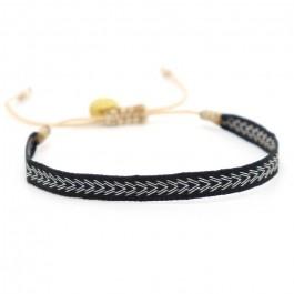 Bracelet Argentinas noir blanc