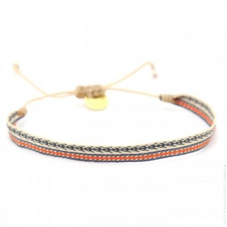Argentinas beige orange grey bracelet
