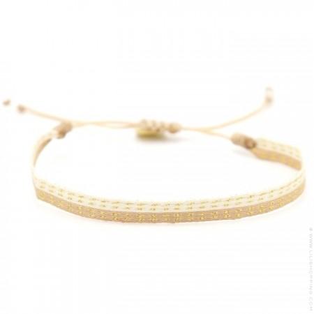 Bracelet Argentinas beige or