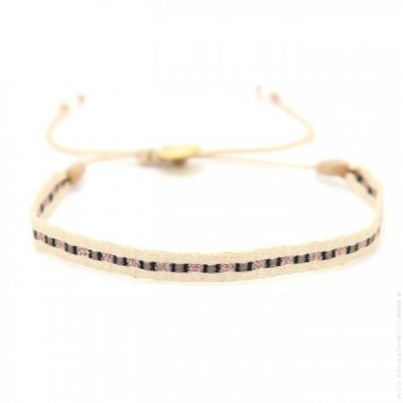 Bracelet Argentinas beige noir or rose
