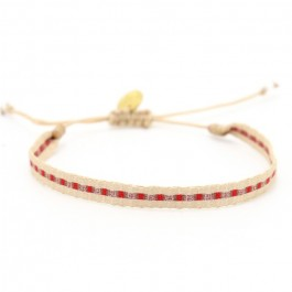 Argentinas beige copper red bracelet