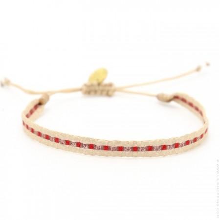 Argentinas beige copper red bracelet