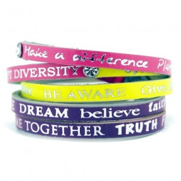 Bracelet Happy Tritons Strass 9 Good Work(s) Make a Difference