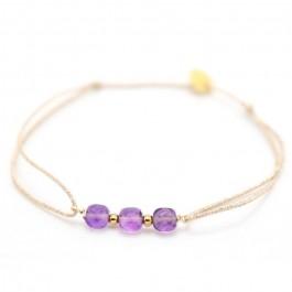 Bracelet Maya briolettes sur lien lurex