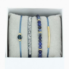 blue jean La Re Belle bracelets