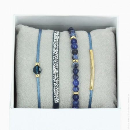blue jean La Re Belle bracelets