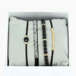 Black La Re Belle bracelets