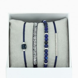 La Re Belle navy blue bracelets