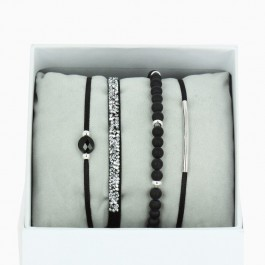 La Re Belle silver black bracelets