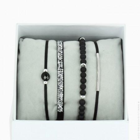 La Re Belle silver black bracelets