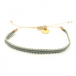 Bracelet Argentinas kaki noir