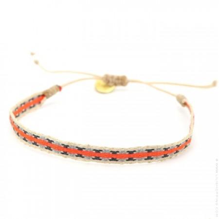 Bracelet Argentinas orange gris beige