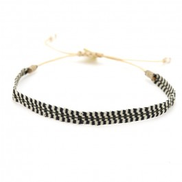 Argentinas black and cream bracelet