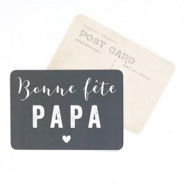 Bonne Fête Papa grey Cinq Mai postcard