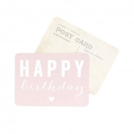 Happy Birthday powder pink Cinq Mai postcard