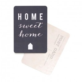 Carte postale Cinq Mai - Home sweet home ardoise