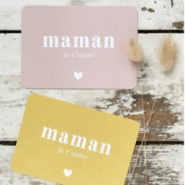 Maman je t'aime Cinq Mai postcard