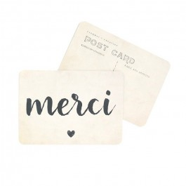 Merci vintage paper Cinq Mai postcard