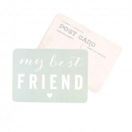 Carte postale Cinq Mai - My best friend smoke green
