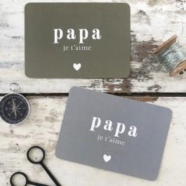 Papa je t'aime Cinq Mai postcard