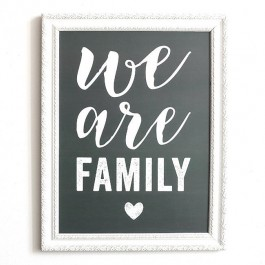 We are Family laurel grey Cinq Mai poster