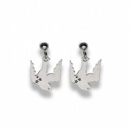 Boucles d'oreilles Black Bird en argent