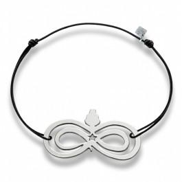 Bracelet infini en argent Les étoiles de Lily