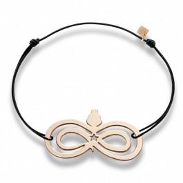 Bracelet infini plaqué or rose Les étoiles de Lily