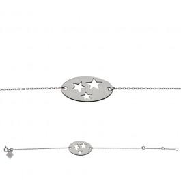 Bracelet chaine 3 étoiles argent Les étoiles de Lily