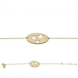 Bracelet chaine 3 étoiles plaqué or Les étoiles de Lily
