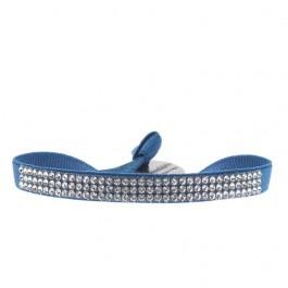 Bracelet full 3 rangs bleu jean